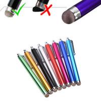 Wholesale Capacitive Stylus Fine - Wholesale- 11.2cm Fine Point Round Thin Tip Capacitive Stylus Pen Tablet Stylus Pen For iPad 2 3 4 air mini random color