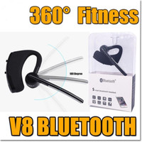 Popular V8 Wireless Bluetooth Headset Earburds auriculares estéreo Bluetooth Brindador de carro bluetooth fone de ouvido para Samsung S8