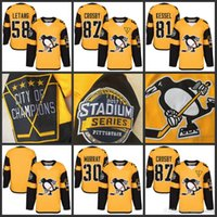Jerseys Baratos Crosby Baratos-81 Phil Kessel Cheap Hockey Jerseys 2017 Stadium Series Jersey # 87 Sidney Crosby 30 Matt Murray # 58 Kris Letang Pittsburgh Penguins Jersey