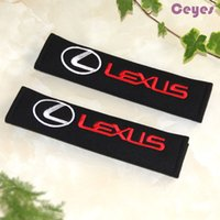 Wholesale Shoulder Belt Cover - Car Seat Belt Cover for LEXUS rx300 rx330 is250 ct200h lx470 Safety Belt Cover Pure Cotton Car Accessories Styling 2PCS LOT