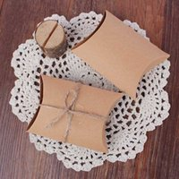 Wholesale Cheap Styling Products - Wholesale- Cheap Price Bulk 10pcs Wedding Gift Boxes New Style Kraft Pillow Shape Wedding Favor Gift Bag Candy Box New Products