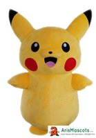 Wholesale Ready Ship Party Dresses - AM0023 Giant Pokeman Pikachu mascot costume ready for shipping, adults fancy dress, party costumes