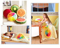 Wholesale cooler seat cushion - 3D Fruit Cushion Blanket pillow cushion Decorative Quilt home decor Car sofa Seat travel Bed Pillow sleeping pillow baby blanket 300699