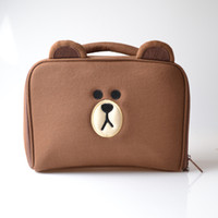 Wholesale Hottest Cartoon Women - 2017 Hot Sale Brown bear cartoon design Cosmetic Bags,Free Shipping makeup bags for Women