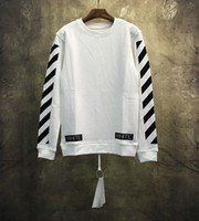Wholesale High Collar Sweaters - Best quality 2017 new fashion off white c O VIRGIL ABLOH Round collar sweater hiphop high street clothes
