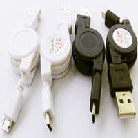 Wholesale Retractable Usb Phone Charger - Retractable micro usb cable charger cable data cabo Black White cell phone accessorie For Samsung Galaxy S6 S5 S4 Blackberry Nokia x1