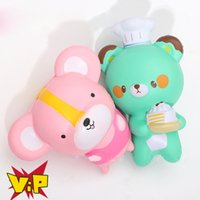 Wholesale Mouse Soft - 10Pcs Lot Jumbo 12CM Squishy Kawaii Pink Mouse Slow Rising Phone Straps Sweet Scented Soft Bread Kid Cartoon Toy Gift Wholesale