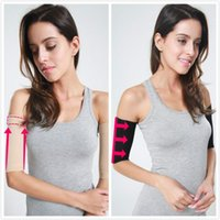 Wholesale Slim Arm Bands - Wholesale- PRAYGER 4pcs sexy lady Massage arms Shaper Slimming upper Arm belt bands control body elbow wrap shapers seamless soft touch