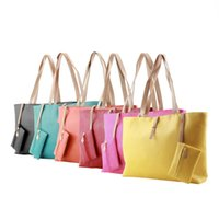 Wholesale Wholesale Messenger Purses - Wholesale-Melti Coler Fashion Designer Women PU Leather Tote Shoulder Bags Hobo Handbags Satchel Messenger bag Purse
