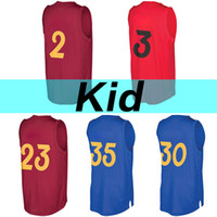 Wholesale D 35 - 2017 Christmas Edition High quality Youth jersey W e #3 D t #35 C y #30 Kid #2 J s #23 Baskatball jerseys Kid's jerseys Embroidery Logos