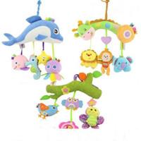 waldtiere plüsch großhandel-Neue Baby Kinderwagen Kinderwagen Bett Hängen Glocke Plüsch Tier Rasseln Lernspielzeug Sea farm wald tiere