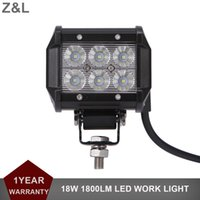18W LED WORK LIGHT BAR Offroad 12V 24V Auto Car Motorcycle SUV ATV 4WD 4X4 Truck AWD Pickup Wagon Driving Fog Lamp DRL