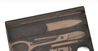 ferramenta multiusos de sobrevivência de bolso venda por atacado-Venda quente conjunto de faca de cozinha multi-função cartão de ferramentas multi-purpose combinação ferramentas bolso faca de sobrevivência mini manicure