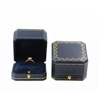 Wholesale jewelry packaging bracelet box packing - Octangle Jewelry Gift Packing Box Leatherette Precious Antique Ring Pendant Earring Necklace Bangle Bracelet Jewellery Packaging Boxes