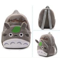 Wholesale Kindergarten School Toys - Super cute cartoon Anime baby toy plush backpack gray classic Totoro school bag children kindergarten toy gift