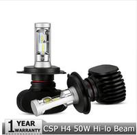 Wholesale Audi Led Headlamp - H4 Hi-Lo Beam LED Car Headlight Bulbs 50W 6500K 8000lm Auto Led Headlamp CREE CSP Chips Headlights for Toyota Hyundai Kia