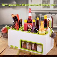 Wholesale Knife Racks condiment box Multifunction knife storage rack Kitchen Supplies tool storage rack shelf kitchen accessories