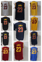 Wholesale Champions Basketball Jerseys - LeBron James 23 Black Basketball Jersey with Short Sleeve Men's 2016 Champions Basketball Shirts Top Quality Athletic Apparel Stitched