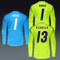 cd9a3a1b2 ... 2016 2017 Real Madrid Goalkeeper Home Away Jersey 16 17 best quality  shirt Free shipping Long ...