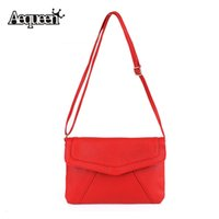 Wholesale Envelope Portable Handbag - Wholesale-2016 Women Messenger Bags Leather Handbag Portable Envelope Shoulder Bag Crossbody Girls Tote Beauty Colors Fashion Hot