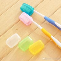 Wholesale Travel Toothbrush High Quality - High quality NEW Useful 1Set 5Pcs Travel Camping Protect Toothbrush Head Cleaner Cover Case Box Holder