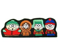 """Wholesale Wholesale Character Patches - 4.25"""" SOUTH PARK FUNNY CARTOON Iron On Patch Badge TV Movie Characters Series Rock Punk Embroideried Iron On Patch Logo Badge"""