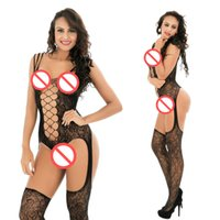 Wholesale Sexy Lingerie Sex Underwear Crotchless - New Arrival Women Sexy Bodystockings Hollow Out Temptation Open Crotch Lingerie Erotic Underwear Sex Crotchless Kimono Sexy Intimate Leotard