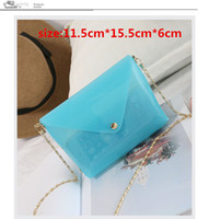 Wholesale Transparent Envelope Handbag - Clear shoulder bags fashion PVC clutch handbag special design transparent women messenger bag