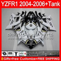 Wholesale Lucky Strike Fairings - 8Gift 23Color Body For YAMAHA YZF1000 YZFR1 04 05 06 YZF-R1000 58HM4 Lucky Strike YZF R 1 YZF 1000 YZF-R1 YZF R1 2004 2005 2006 Fairing kit