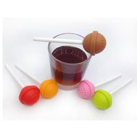 Wholesale Sweet Silicone Cup - Silicon Sweet Tea Infuser Candy Lollipop Loose Leaf Mug Strainer Cup Steeper