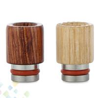 ingrosso migliore punta di gocciolamento in acciaio inossidabile-Best Wood Drip tip Legno + acciaio inox Drip Tips Legno 510 Bocchini Wide Bore Style 2 Colori DHL Free