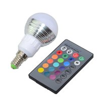 Lampadina LED RGB E27 E14 AC85-265V 3W 5W LED Variabile Spot Blubs Magic Magic Holiday Illuminazione RGB + Telecomando IR 16 Colori