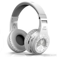 kablosuz dizüstü kulaklıklar mikrofonu toptan satış-Orijinal Bluedio HT Kablosuz Bluetooth Kulaklık Güçlü Bas Stereo V4.1 Aşırı Kulak Kulaklıklar Cep Telefonları için Mic ile Akıllı Telefonlar Iphone ...
