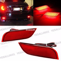 Wholesale Led Rear Bumper Reflectors - LED Rear Bumper Reflector Brake Fog Lights For Subaru Exiga Levorg WRX STI Legacy XV Crosstrek Impreza 11 12 13
