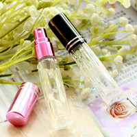 Wholesale Smallest Atomizer - 3ml empty glass spray bottle small atomizer perfume bottles atomizing spray Liquid Container fast shipping F20171585