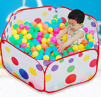 Venta al por mayor-Nuevos Niños Niños Ocean Ball Pit Pool Juego Tent In / Outdoor Kids House Play Hut Pool Play Tent
