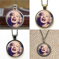 Wholesale Photos Marilyn Monroe - 10pcs Marilyn Monroe inspired Glass Photo Necklace keyring bookmark cufflink earring bracelet