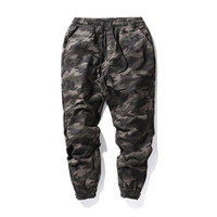 Wholesale New Fashion Military Pant - Harajuku Brand Military Pants Men Elastic Waist Camouflage Joggers 2017 New Fashion Solid Black Casual Outwear Pencil Pants XXL