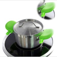 Wholesale silicone pot handles resale online - Silicone Pot handle Cover Prevent Scalding Cooking Gloves Silicone Thick Heat Resistant Oven Pliable Heat Insulation Waterproof