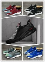 Wholesale Alpha Leather - Top Quality 2017 Alpha Bounce Discount New Color AlphaBounce M Running Shoes Kanye West Men Women Non-Slip Sneaker Shoes Eur36-45
