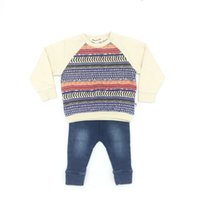 Wholesale Girls Shirt Jeans - Baby Clothes Girls Sets Cotton Striped Shirt and Jeans Pants Brand Appaman High Quality Infant Clothing