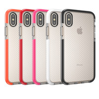 Wholesale Mesh Iphone Cover - For iPhone X 8 10 Mesh EVO Soft TPU Case Gel Phone Back Cover Dot Shockproof Shell for iPhone8 iPhoneX i10 Cases