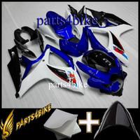 aftermarket motorradkunststoffe großhandel-ABS Verkleidung für Suzuki GSXR600750 06 07 GSX-R600 750 2006 2007 06-07 blau schwarz Motorradzubehör-Kit