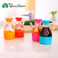 Wholesale Small Kitchen Storage - Wholesale- Home Seasoning Bottle With Handle Small Plastic Oiler Plastic Storage Candy Color Green Modern Kitchen Tool Accessories