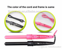 Wholesale Professional Perms - Newest Hair Curler Roller 3 in 1 Functions Cylindrical 3 Curling Irons Set Professional Perm Hair Curling Instrument Pink Black Color