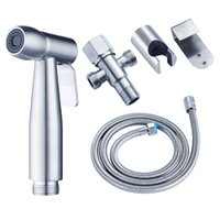 Wholesale Diaper Hose - B568-4H 304 Stainless Steel Handheld Bidet Shower Set Toilet Bidet Sprayer High Pressure Diaper Washing with Hose holder hanger 3-way valve