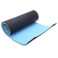 Wholesale Yoga Mat Mm - Wholesale-2016 15mm Thick Lose Weight Exercise Yoga Mat 180 x 51cm Pilates Yoga Mat With Carrying Straps Fitness Moisture-Proof Foam Pad