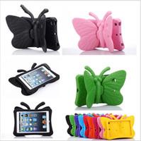 schmetterling steht großhandel-3D Schmetterling Kinder Fall für Apple iPad 2 3 4 9.7 Zoll EVA Shock Proof Stand Cover mit Griff Kinder freundlich