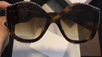 Wholesale Round Cateye Sunglasses - Women Inspired Havana 0118 S Sunglasses Stone stud frame Cateye sunglasses designer luxury brand sunglasses new with box
