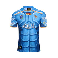 Wholesale Apparel M - Free shipping WHOLESALE Nine peaples golden Coast Rugby Jerseys 2017 make Titan rugbyJerseys Sport Apparel TopT SHIRT